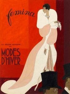 Gouache-färg på omslaget till tidsskriften Femina 1929