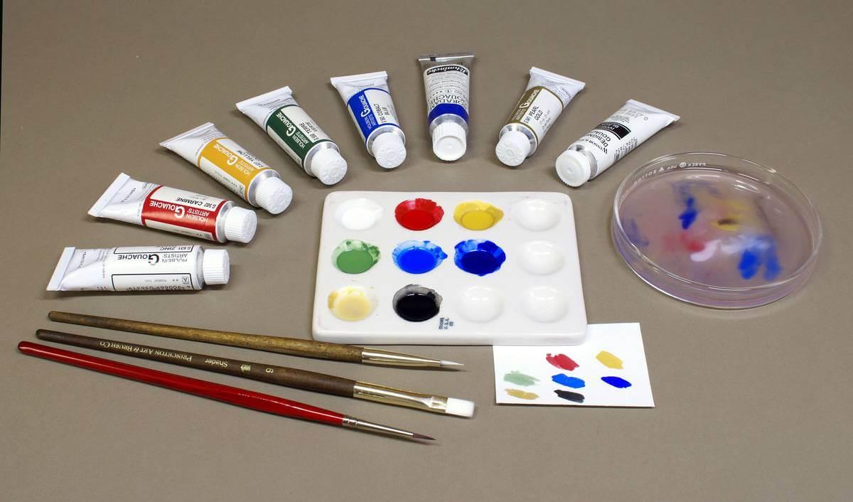 Måla med gouache - färger
